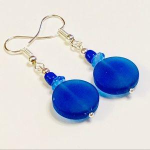 Gorgeous Cobalt Sea Glass Earrings